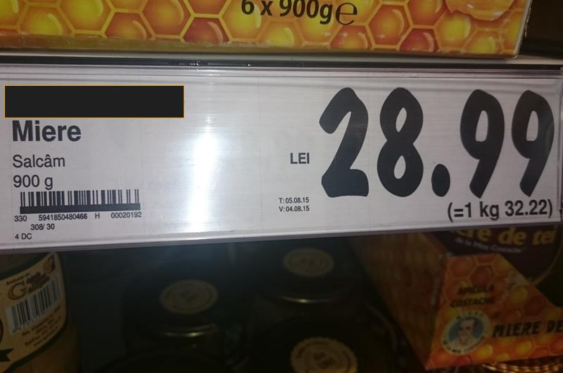 pret miere de albine