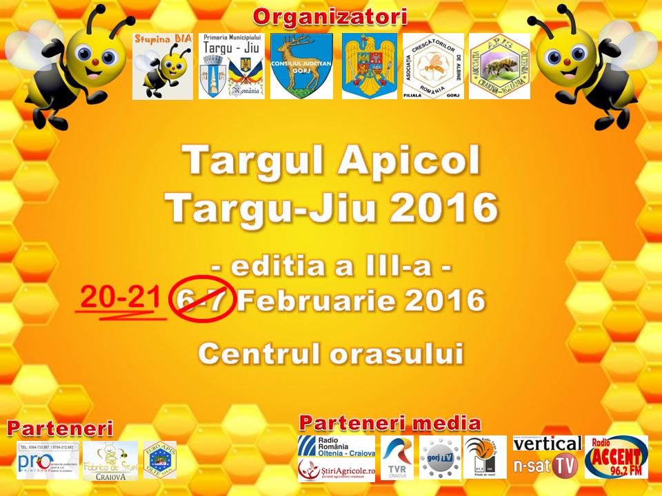 Targul Apicol Targu Jiu 2016 modificare data